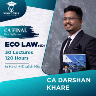 Video Lecture CA Final Elective Economic Laws Darshan Khare