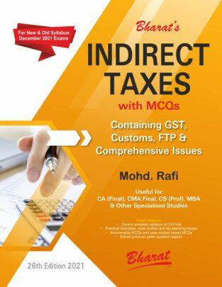 Bharat CA Final Indirect Taxes New Syllabus By Mohd Rafi Nov 2021