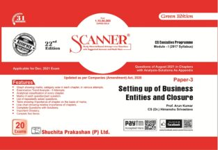 Solved Scanner CS Executive Setting up Business Entities Closure
