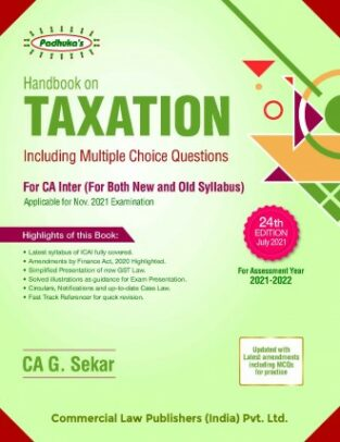 Commercial Padhuka Handbook Taxation G Sekar Income Tax