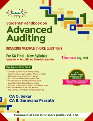 Padhukas Students Handbook on Advanced Auditing For CA Final New