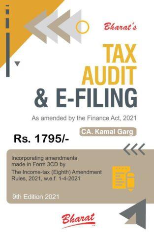 Bharat Tax Audit & E-Filing Kamal Garg Edition April 2021