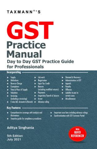 Taxmann GST Practice Manual with GST Audit Aditya Singhania