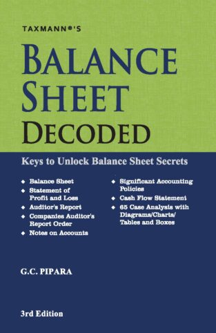 Taxmann Balance Sheet Decoded Keys Unlock Balance Sheet G C Pipara