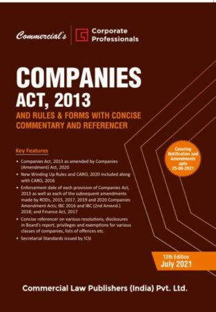 Commercial Companies Act 2013 And Rules Corporate Professionals