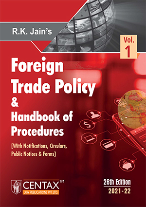 R.K Jain Foreign Trade Policy & Handbook of Procedures