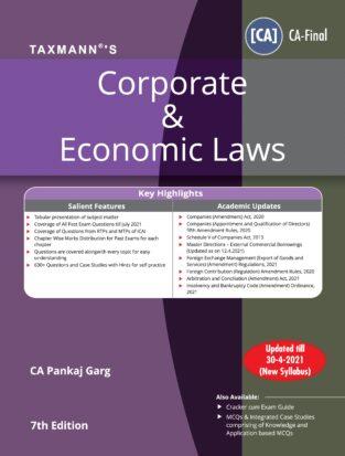 Taxmann Corporate Economic Laws New Syllabusl Pankaj Garg