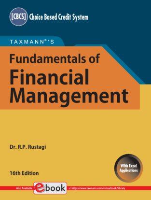Taxmann Fundamental of Financial Management R P Rustagi
