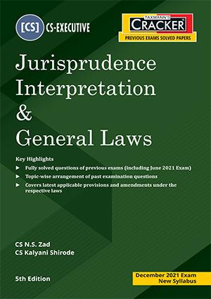 CS Executive Cracker Jurisprudence Interpretation N S Zad