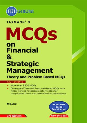 Taxmann CS Executive MCQs Financial Strategic Management N S ZAD
