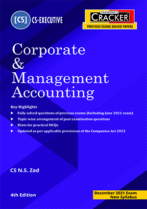 Taxmann Cracker Corporate Management Accounting N S Zad