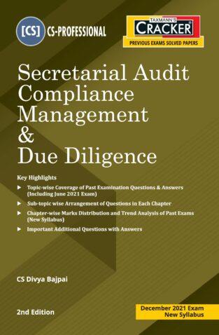 Taxmann CS Final Cracker Secretarial Audit Compliance By Divya Bajpai