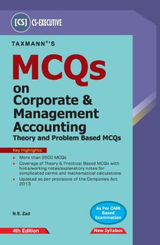 Taxmann CS Executive MCQ Corporate Management Accounting N S Zad