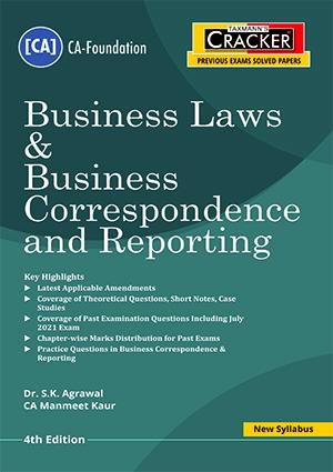 Taxmann CA Foundation Cracker Business Laws Business Correspondenc