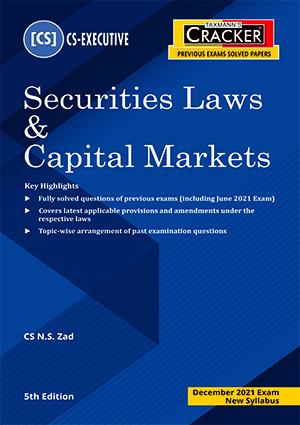 CS Executive Cracker Securities Laws Capital Markets N S Zad