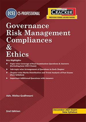 Taxmann CS Final Cracker Governance Risk Manage By Ritika Godhwani