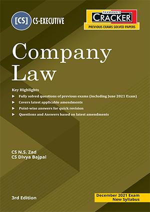 CS Executive Cracker Company Law New Syllabus By N S Zad