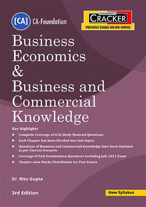 CA Foundation Cracker Business Economics Commercial Ritu Gupta