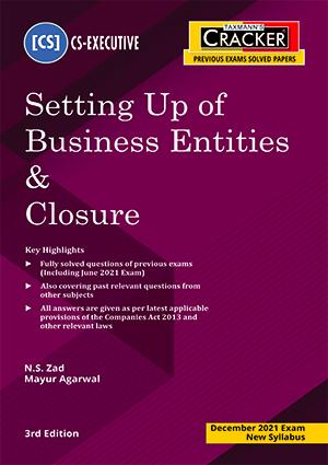 Taxmann CS Executive Cracker Setting up of Business Entities N S Zad