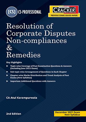 Taxmann CS Final Cracker Resolution Corporate By Atul Karampurawala