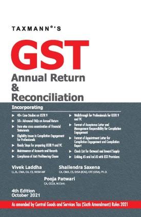 Taxmann GST Annual Return & Reconciliation Vivek Laddha Pooja Patwari