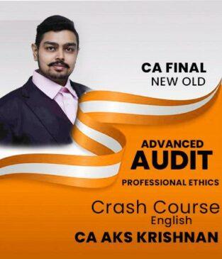 Video Lecture CA Final Advanced Auditing CA AKS Krishnan