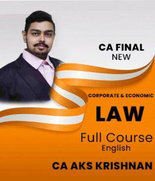 Video Lecture CA Final Corporate and Economic CA AKS Krishnan