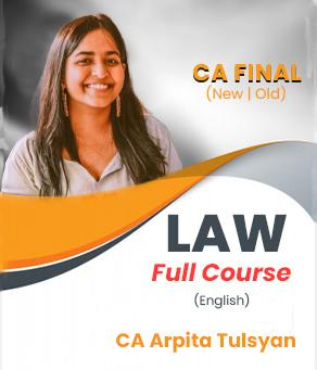 Video Lecture CA Final Corporate & Economic Laws By Arpita S. Tulsyan