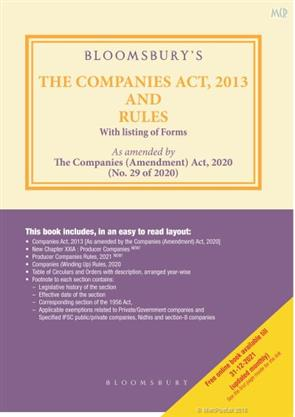 The Companies Act 2013 and Rules With listing of Forms