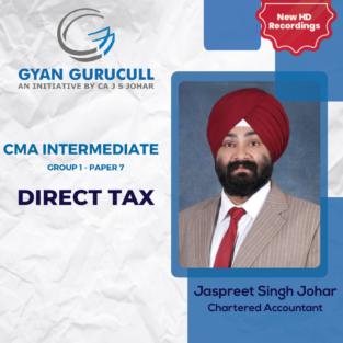 Video Lecture CMA Inter Income Tax By CA Jaspreet S Johar