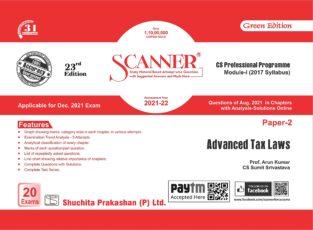 Scanner CS Final Module I Paper-2 Advanced Tax Laws By Arun Kumar