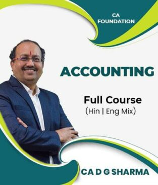 Video Lecture CA Foundation Accounts Full Course By D G Sharma