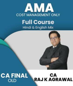 Video Lecture CA FINAL Cost Management AMA Raj K Agarwal