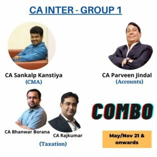 Video Lecture CA Inter Combo Group 1 By CA Parveen Jinda
