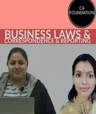 CA Foundation Business Laws Correspondence Reporting Jaishree Soni