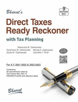 Direct Taxes Ready Reckoner Mahendra B Gabhawala June 2021