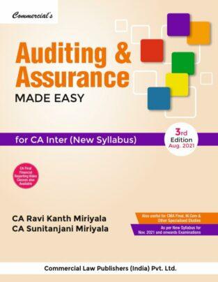 Commercial CA Inter New Syllabus Auditing Assurance Ravi Kanth Miriyala