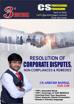 CS Final Resolution of Corporate Disputes Non-Complian Ankush Bansal