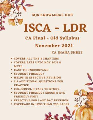 CA Final ISCA Last Day Revision (PDF) ByCA Jhana Shree Last Day Revision