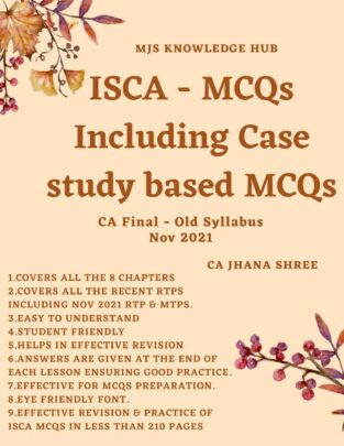 CA Final ISCA MCQs (PDF) Old Syllabus By CA Jhana Shree