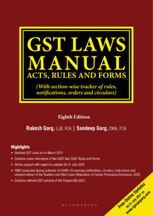 Bloomsbury GST Laws Manual Acts Rules and Forms By Rakesh Garg