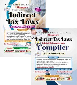 CA Final Indirect Tax Laws Main Book & Compiler By Yogendra Bangar