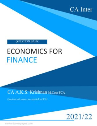 CA Inter Economics For Finance Question Bank By CA AKS Krishnan