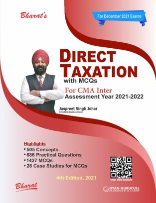 Bharat CMA Inter Direct Taxation with MCQs By Jaspreet S Johar