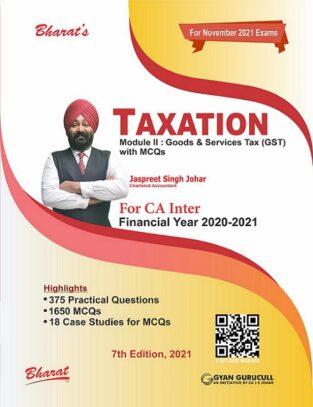 Bharat CA Inter Taxation Goods and Services Tax Jaspreet S Johar CA Inter