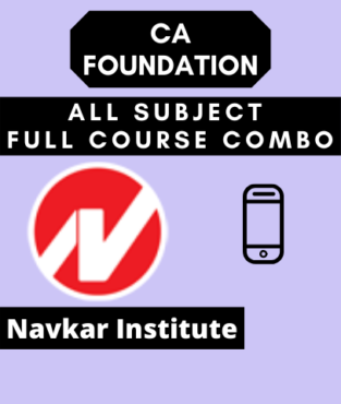 Video Lecture CA Foundation All Subjects Regular Navkar Institute