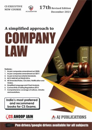 Aj publication CS Executive Company Law New Syllabus Anoop Jain