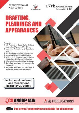 Drafting Appearances Pleadings Anoop Jain CS Professional Programme