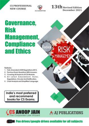CS Professional Programme Governance Risk Management Anoop Jain