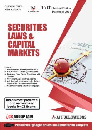 CS Executive Capital Market and Security Laws By CS Anoop Jain